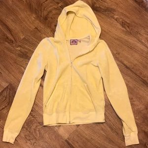 Juicy Couture Yellow Terry Cloth Jacket